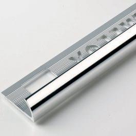 Završna lajsna 10mm srebro sjaj