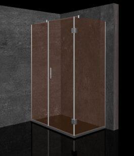 Tuš kabina Bronza 120×80 hrom/bronza – leva