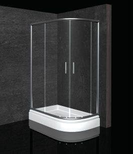 Tuš kabina Mina R120x80 hrom/prozirna