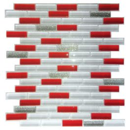 Mozaik Crystal White-Red Line 24,7×30,3