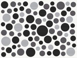 Inserto Ramona Nero Bubbles 25×33