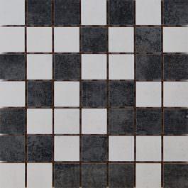Mozaik Glamur White-Gray 25×25