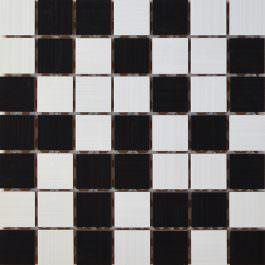 Mozaik Ramona White-Nero 25×25