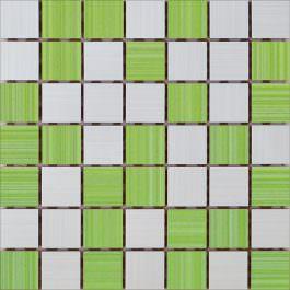 Mozaik Ramona White-Pistacio 25×25