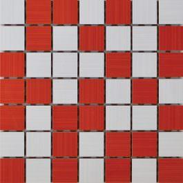 Mozaik Ramona White-Rosso 25×25