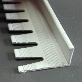 Češalj lajsna 10mm srebro mat