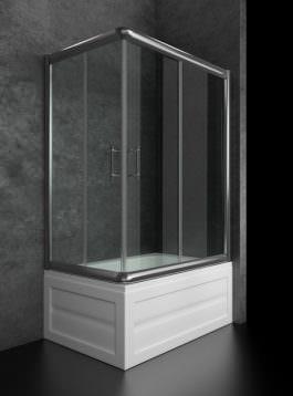Tuš kabina Kiara 120X80 hrom/prozirna