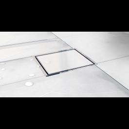 Slivnik Confluo Standard belo staklo 100×100