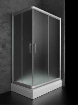 Tuš kabina Fedora 120X80 hrom -prozirna/hem.mat