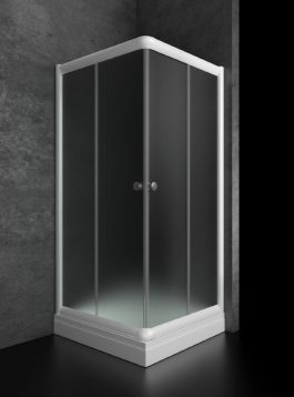 Tuš kabina Bjanka 80×80 plitka belo/mat