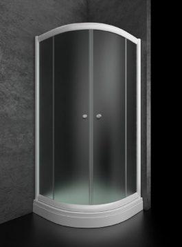 Tuš kabina Bjanka R90 plitka belo/mat