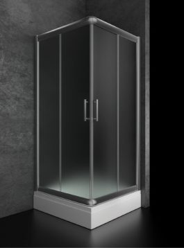 Tuš kabina Tuto 80X80 hrom/prozirna