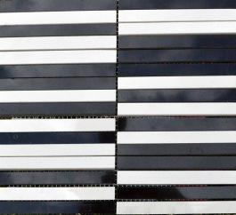 Mozaik PG white/black 30×30