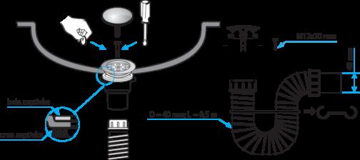 sifon montaža s11422