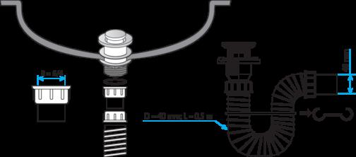 sifon montaža s11425