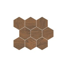 Cersanit Finwood Ochra Mosaic Hexagon 28x337 Mozaik